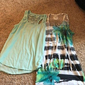 Rue 21 and Mudd lace tank tops